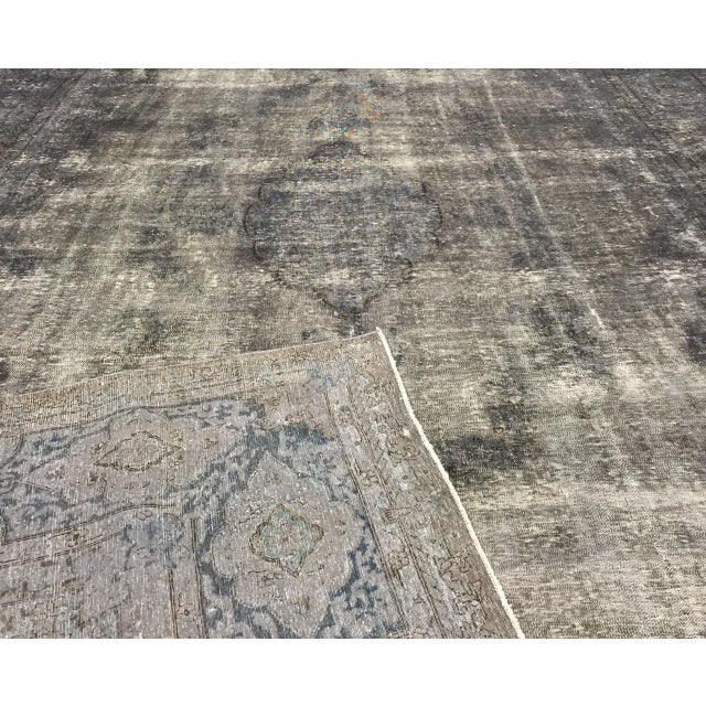 """Contemporary Vintage Overdyed Persian Rug - 9'9""""x16'8"""" For Sale - Image 3 of 3"""
