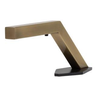 A Single Sculptural Brass Desk Lamp 1970s For Sale