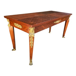 French Empire Style Neoclassical Coffee Table With Ormolu Details For Sale