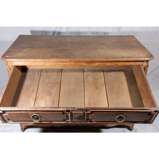 18th Century French Distressed Finish Three-Drawer Commode For Sale - Image 12 of 13