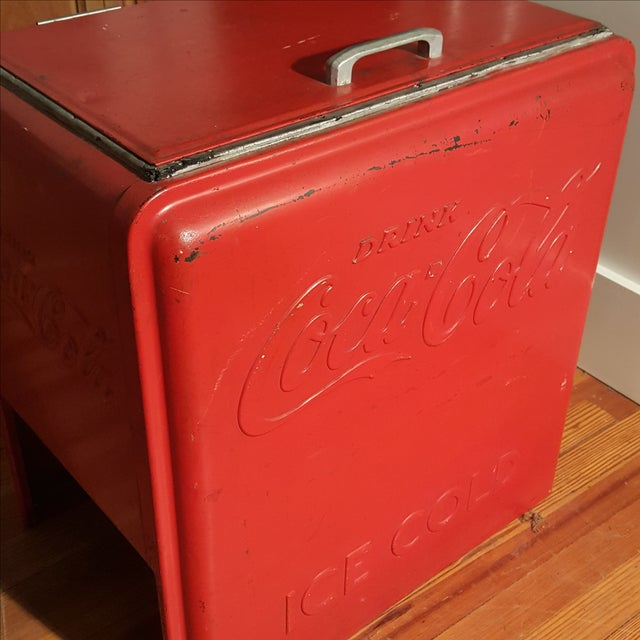Vintage Coca Cola Ice Chest, Circa 1930's - Image 5 of 9
