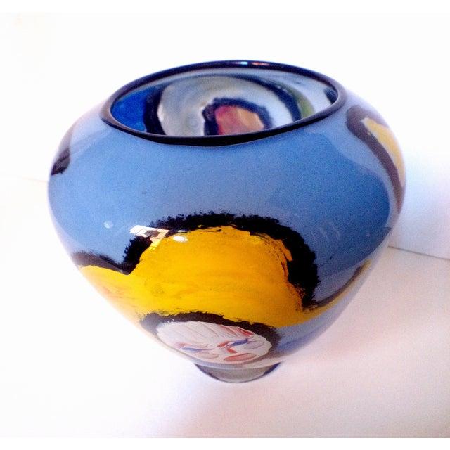 Handblown Faces Vase by Thor Bueno - Image 3 of 6