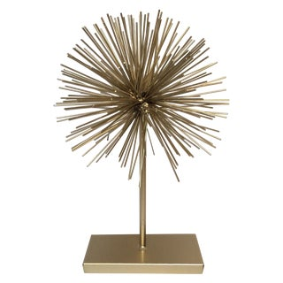 Large Gold Star Burst on Stand