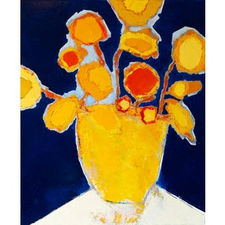 """Bill Tansey """"Sunflowers """" Abstract Floral Oil Painting on Canvas For Sale"""