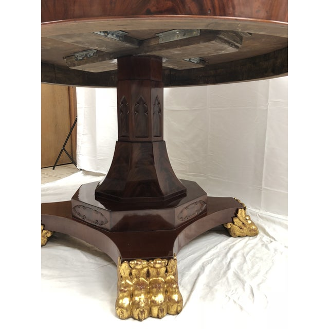 19th Century English Regency Mahogany Oval Table For Sale - Image 4 of 5