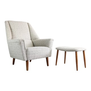 Kurt Østervig for Rolschau Møbler Chair (His Chair and Ottoman Only - Hers Chair Sold Separately), Sweden For Sale