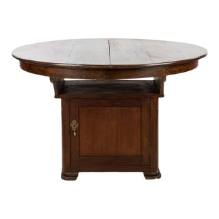 American Empire Mahogany Pub Table With Center Leaf For Sale