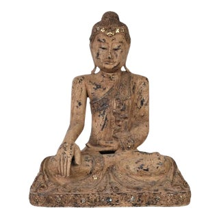 Vintage Thai Wooden Buddha In Wood For Sale