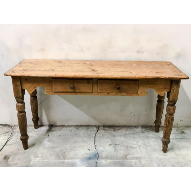 Antique French Pine Console Table - Image 4 of 5