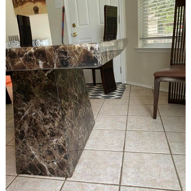 Maurice Villency Style Marble Dining Table For Sale - Image 11 of 13