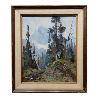 "George Browne ""British Columbia Mountain Landscape"" Expressionist Oil Painting For Sale"