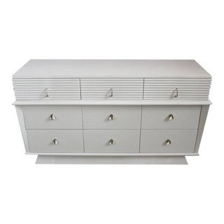 American Mid Century Modern Lacquered Low Chest of Drawers For Sale