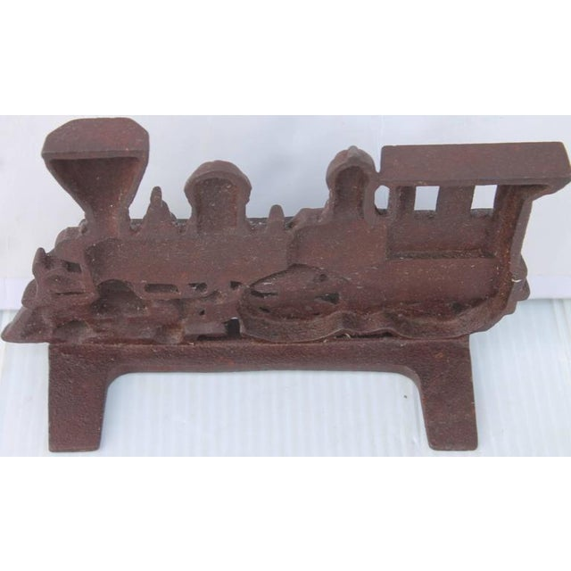 19th Century Original Old Surface Iron Train Door Stop - Image 2 of 8