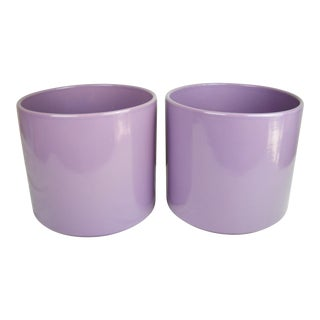 Lavender Gainey Planters, Pair