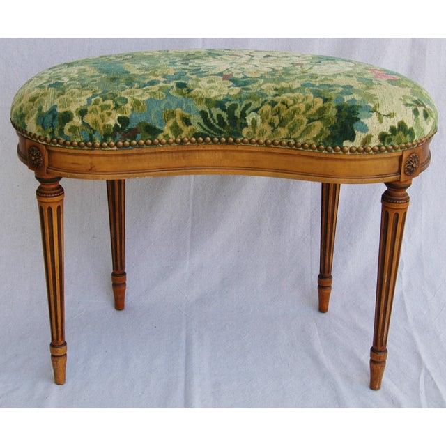 Italian Scalamandre Marly Fabric Bench - Image 11 of 11