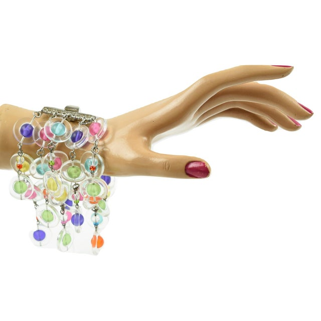 Eric Beamon Multicolor Lucite Link Bracelet With Charms For Sale In Atlanta - Image 6 of 9