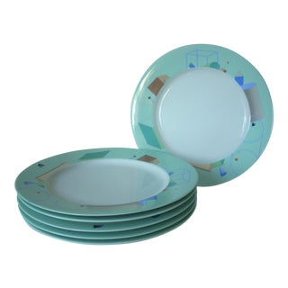 Blue Contemporary China Chargers - Set of 6 For Sale