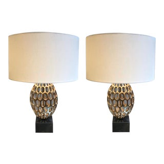 Mid-Century Style Lamps With Shade - a Pair