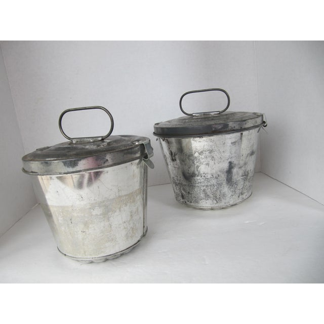 There is still time to make a foggy pudding for the holidays with this pair of vintage German aluminum steamed pudding...