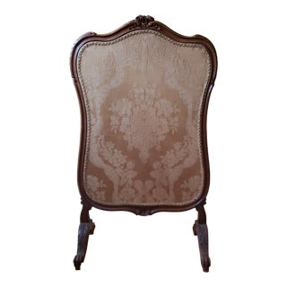 Late 19th Century French Carved Walnut Fireplace Screen For Sale