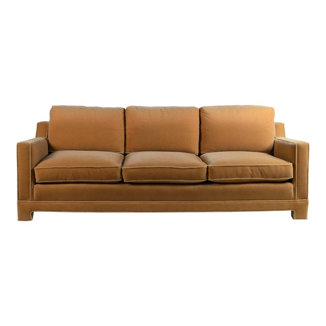 Impeccable Mohair Designer Sofa in the Style of Jean-Michel Frank For Sale