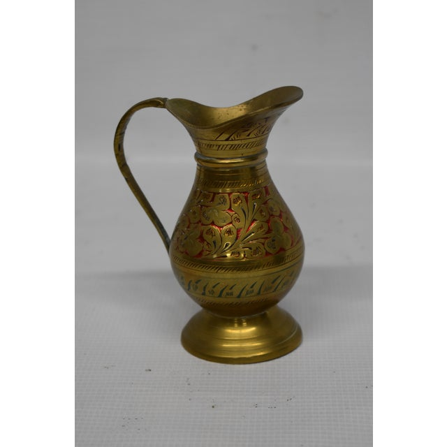 1970s Vintage Indian Brass Vase For Sale - Image 5 of 5