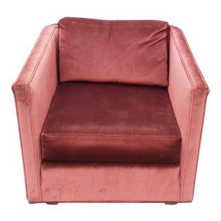 1960s Mid-Century Modern Ennis Furniture Co. Brick Club Chair For Sale
