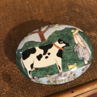 Handpainted Enamel Cow Box Preview