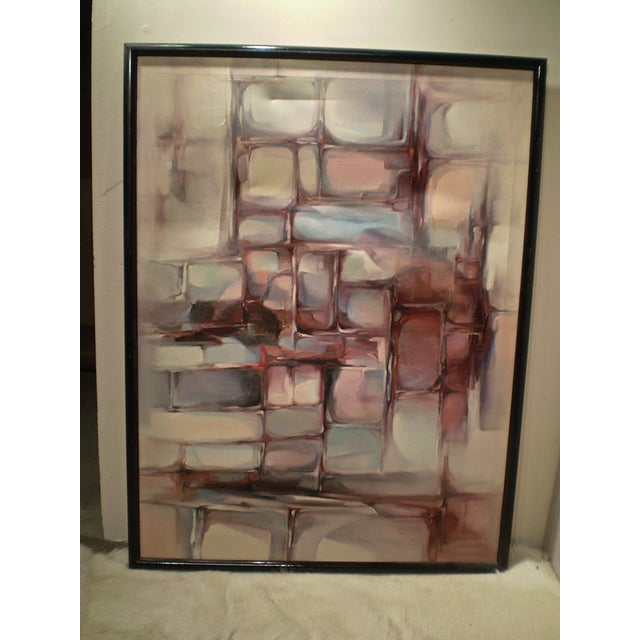 Large Modern Abstract Painting - Image 2 of 4