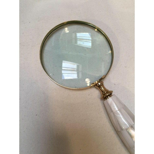 Mother of Pearl & Brass Magnifying Glass - Image 4 of 5