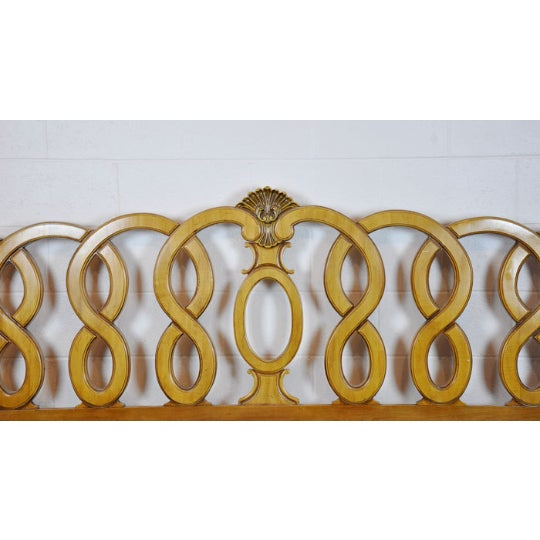 1960's Vintage French Provincial King Headboard - Image 3 of 5