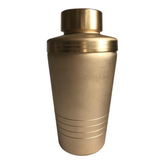 Vintage Matte Gold Cocktail Shaker For Sale