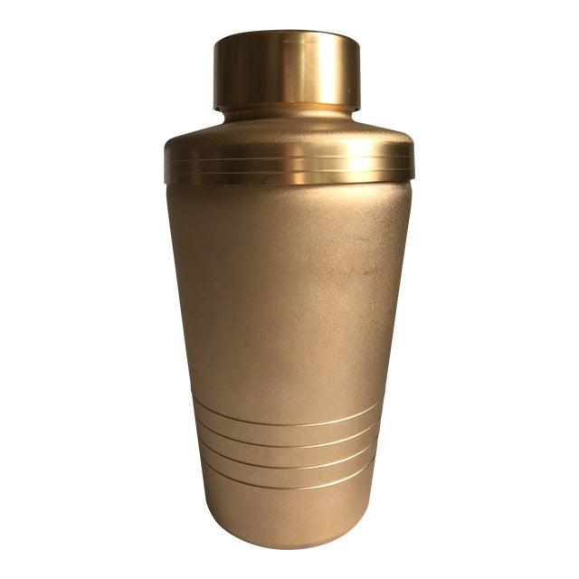 Vintage Matte Gold Cocktail Shaker For Sale