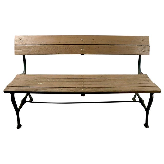Cast Iron and Wood Park Bench For Sale - Image 9 of 9