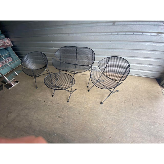 Midcentury Salterini Clamshell Patio Set For Sale - Image 9 of 12