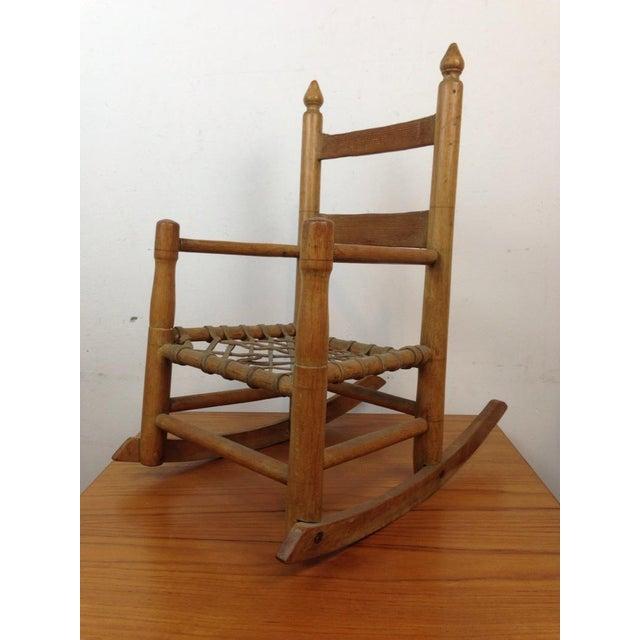Vintage Carved Oak Rocking Chair - Image 3 of 5