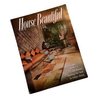 1954 House Beautiful Mid Century Modern Decorating Magazine