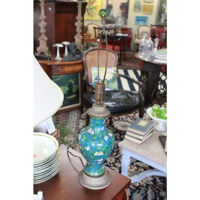 Mid 19th Century Cloisonne Lamp For Sale - Image 9 of 9