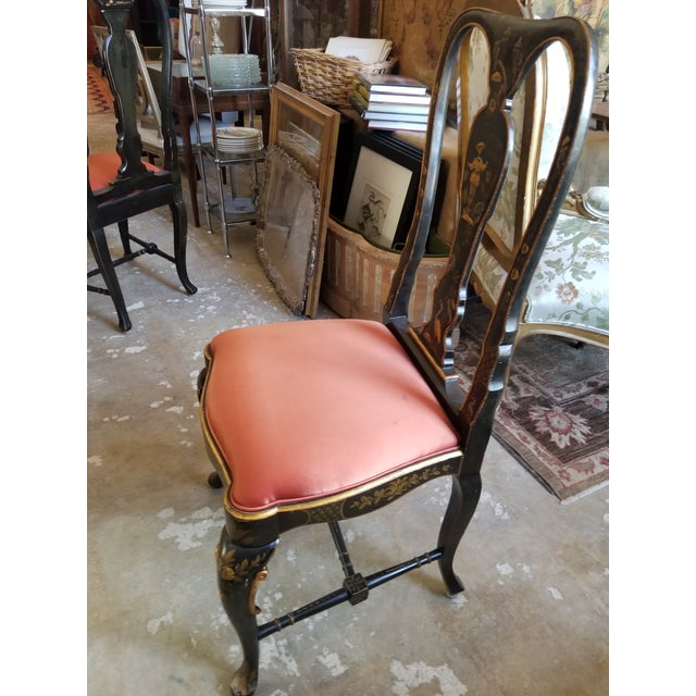 Late 19th Century Pair of Chinoiserie Chairs For Sale - Image 5 of 12