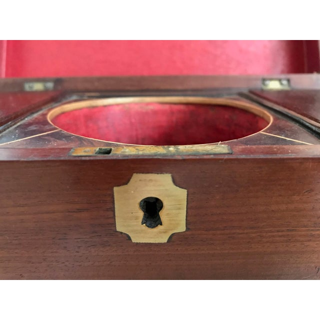 Wood 19th Century English Rosewood Tea Caddy For Sale - Image 7 of 11