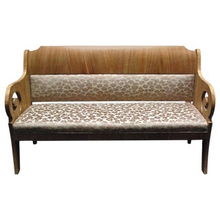 19th Century Baltic Mahogany Sofa With Leopard Uph. For Sale