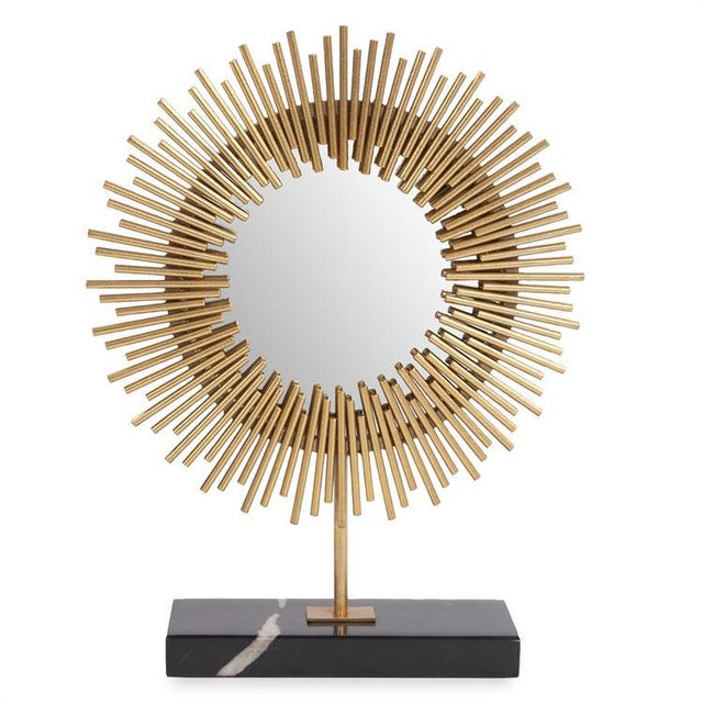 2020s Kenneth Ludwig Chicago Sunburst Table Mirror For Sale - Image 5 of 5