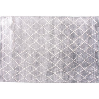 Stark Studio Rugs Contemporary Millbury Stone Silk Rug - 6′ × 8′11″ For Sale