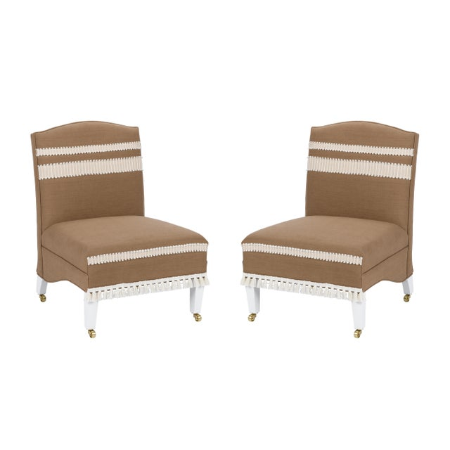 Casa Cosima Sintra Chair in Hazel Linen, a Pair For Sale - Image 10 of 10