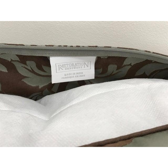 Restoration Hardware Cotton Silk Damask Pillow Cover - Image 4 of 4