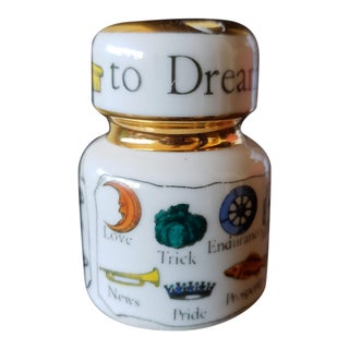Piero Fornasetti Porcelain Insulator 'The New Key to Dreams' Paperweight For Sale