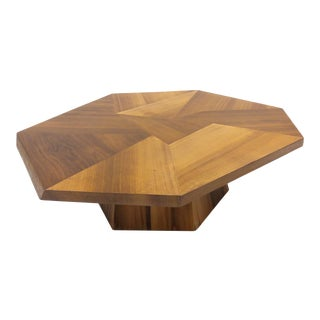 Mid-Century Modern Asymmetrical Wooden Coffee Table For Sale