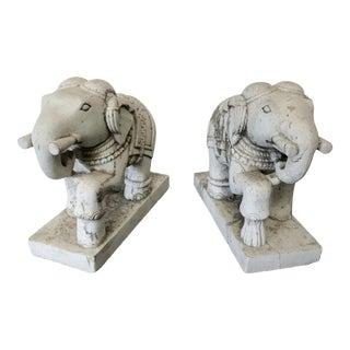 Stone Elephants - a Pair For Sale