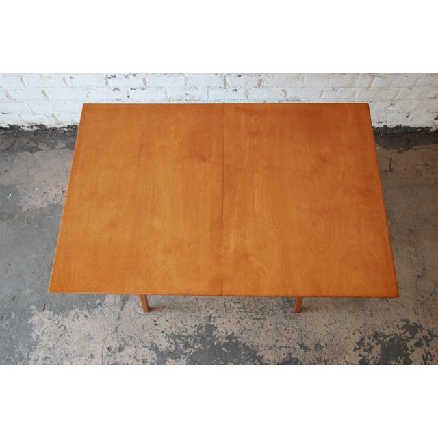 Jens Risom Mid-Century Modern Maple Dining Table For Sale - Image 10 of 11