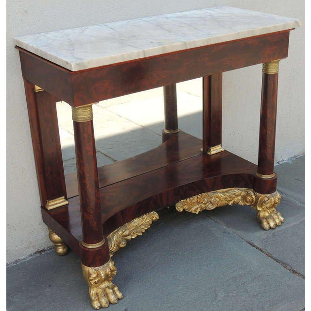 19th C New York Marble-Topped Pier Table For Sale - Image 4 of 9